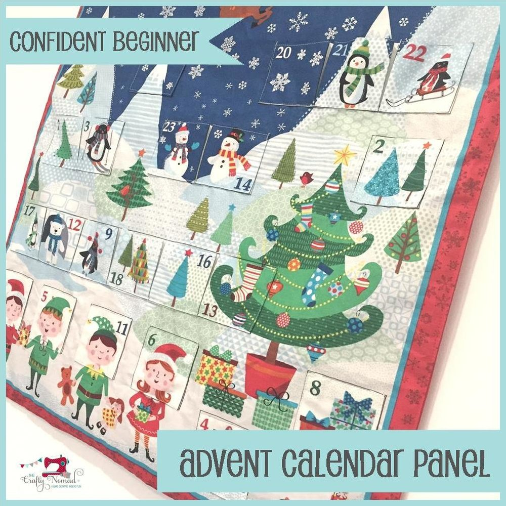 Advent Calendar Panel Sewing Class The Crafty Nomad