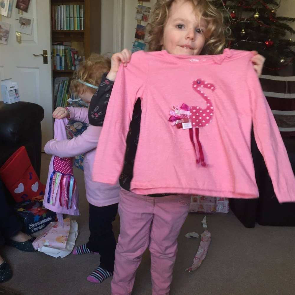 Cath's Flamingo Applique Tshirt