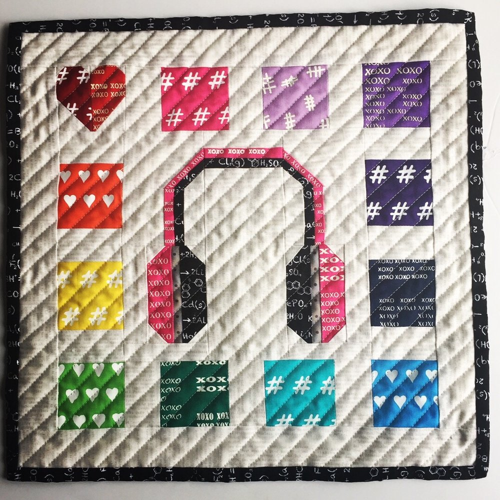 The Crafty Nomad Hey Mr DJ Mini Quilt