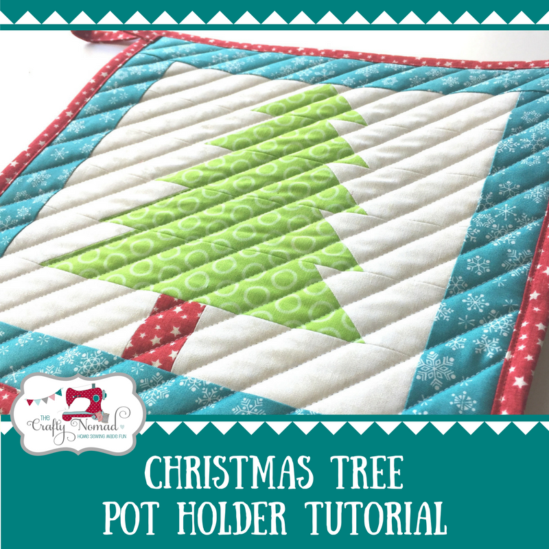 Christmas Tree Potholder Tutorial by Jo Westfoot of The Crafty Nomad, full tutorial on The Sewing Directory