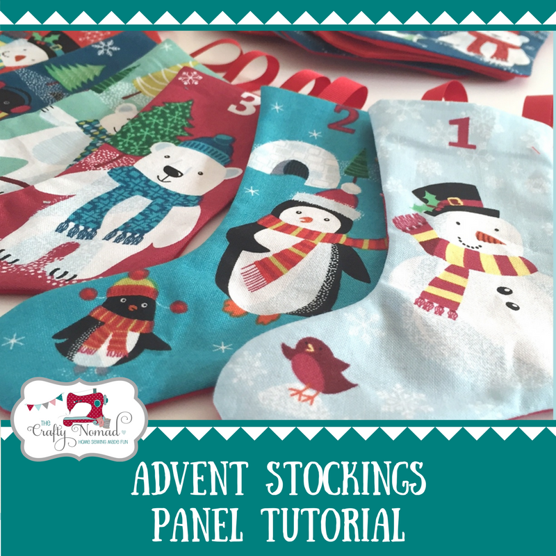 Advent Stockings Panel Tutorial The Crafty Nomad