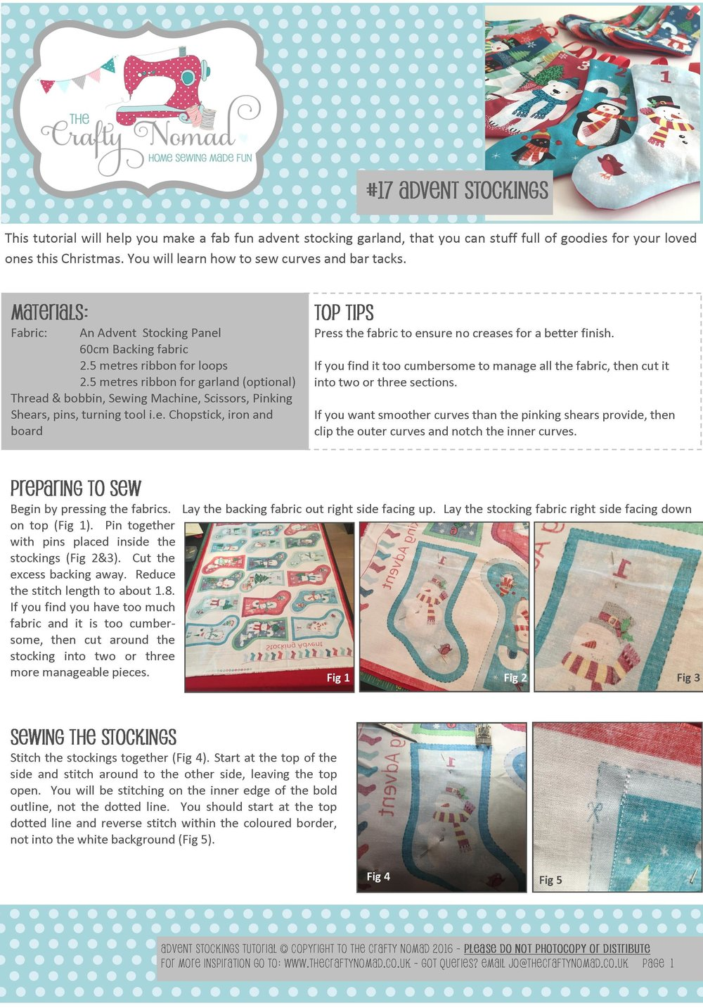 17 Advent Stockings Tutorial Page 1 The Crafty Nomad.jpg