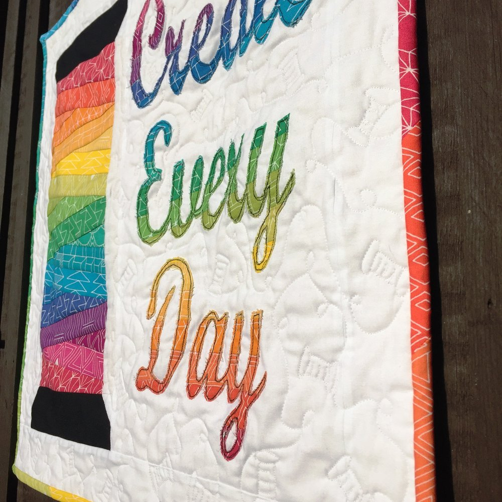 Create Every Day Mini Quilt by Jo Westfoot The Crafty Nomad