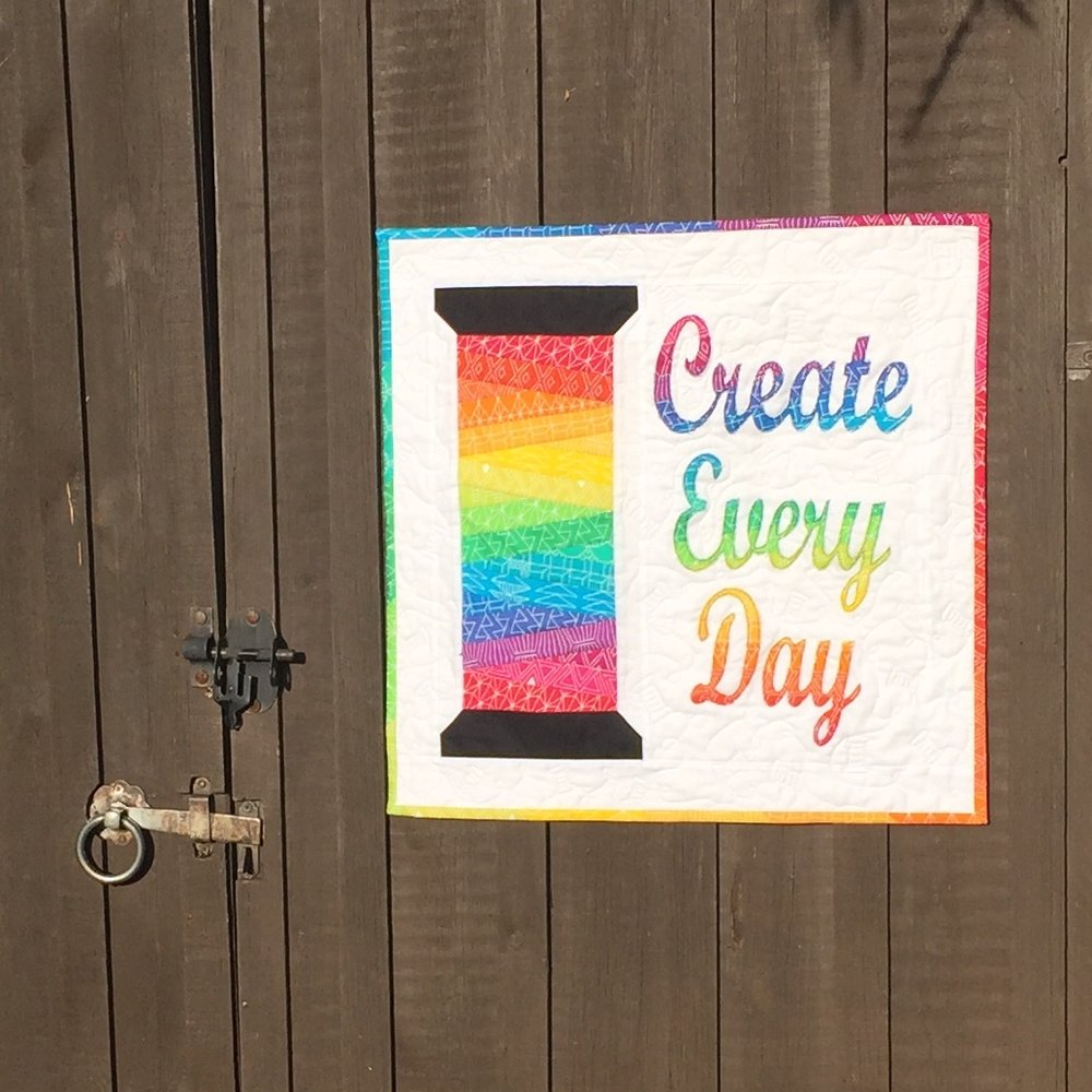 Create Every Day Mini Quilt by Jo Westfoot The Crafty Nomad AVAILABLE NOW www.thecraftynomad.co.uk Lots of other patterns and FREE tutorials!