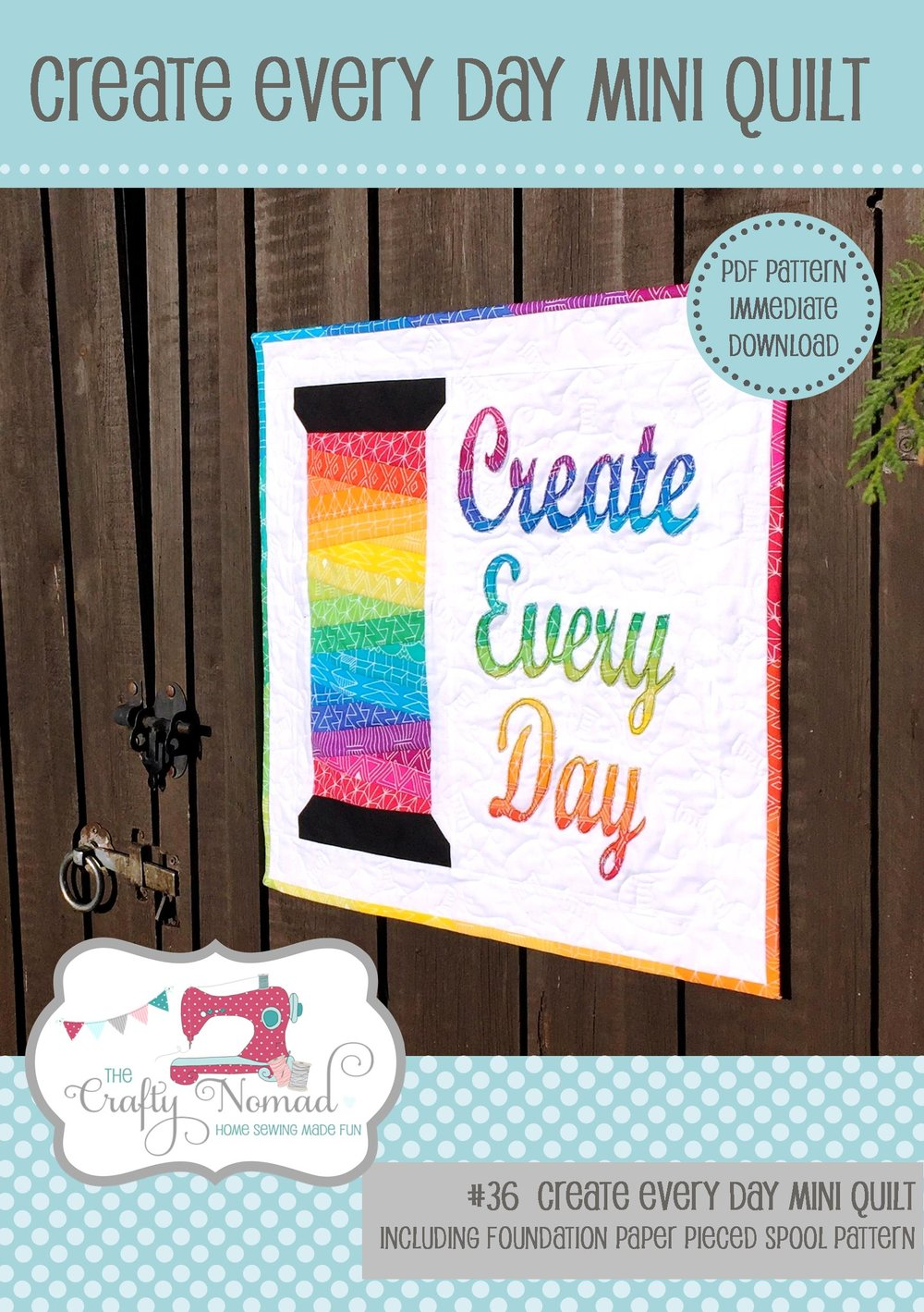 PDF Create Every Day Mini Quilt Front Page The Crafty Nomad 2.jpg