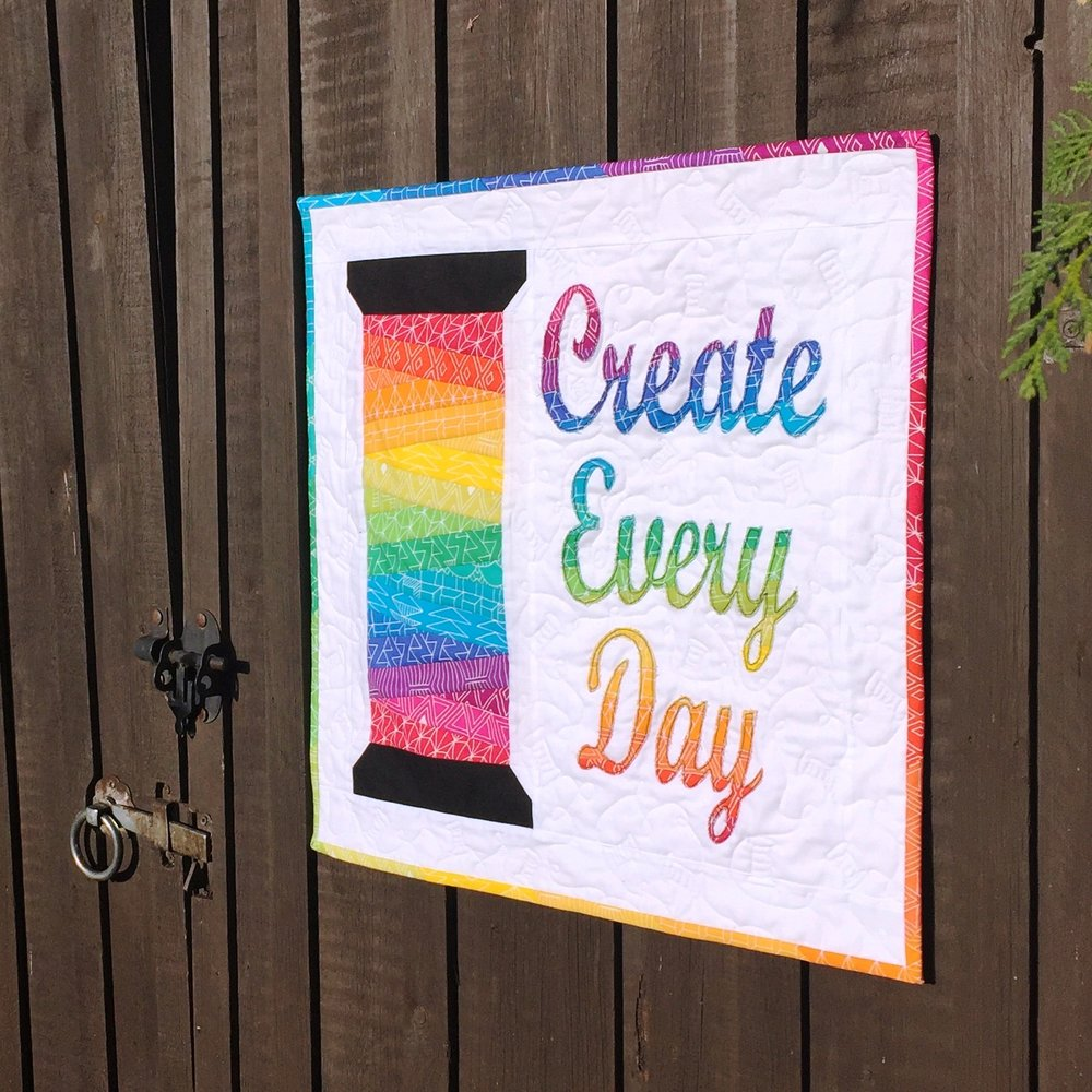 Create Every Day Mini Quiilt Jo Westfoot The Crafty Nomad AVAILABLE NOW www.thecraftynomad.co.uk  Lots of other patterns and FREE tutorials!