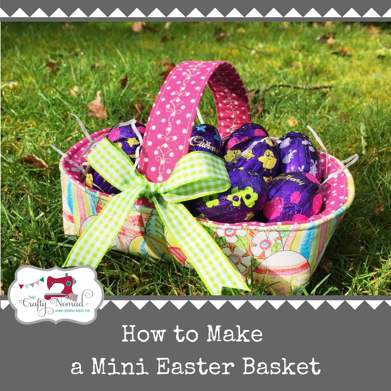 How to make a mini Easter Basket by The Crafty Nomad