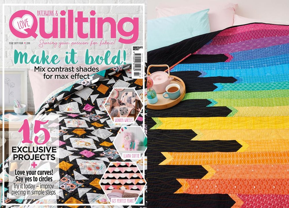 Rainbow Ribbons - Love Patchwork & Quilting Issue 64 - August 2018