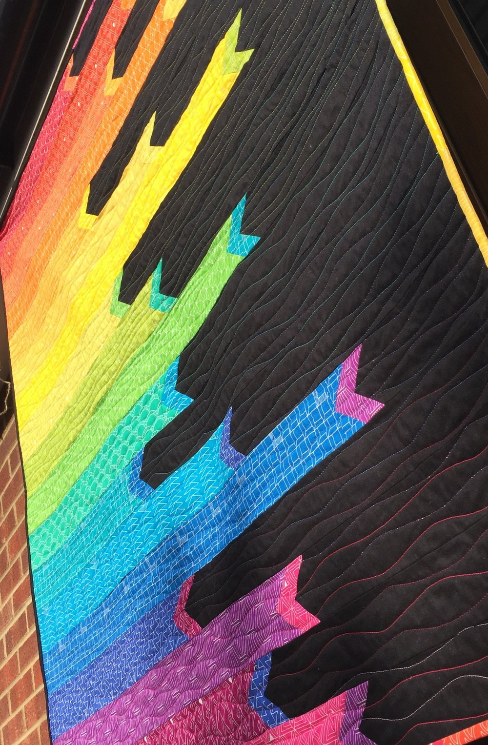 Rainbow Ribbons Quilt By Jo Westfoot The Crafty Nomad