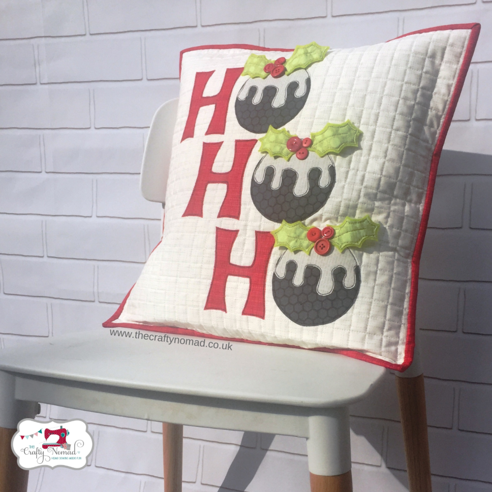 HoHoHo Cushion The Crafty Nomad