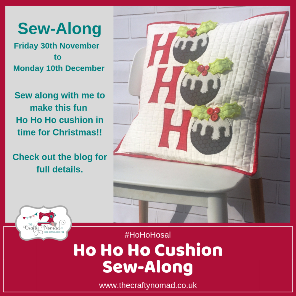 HoHoHo Cushion Sewalong with The Crafty Nomad