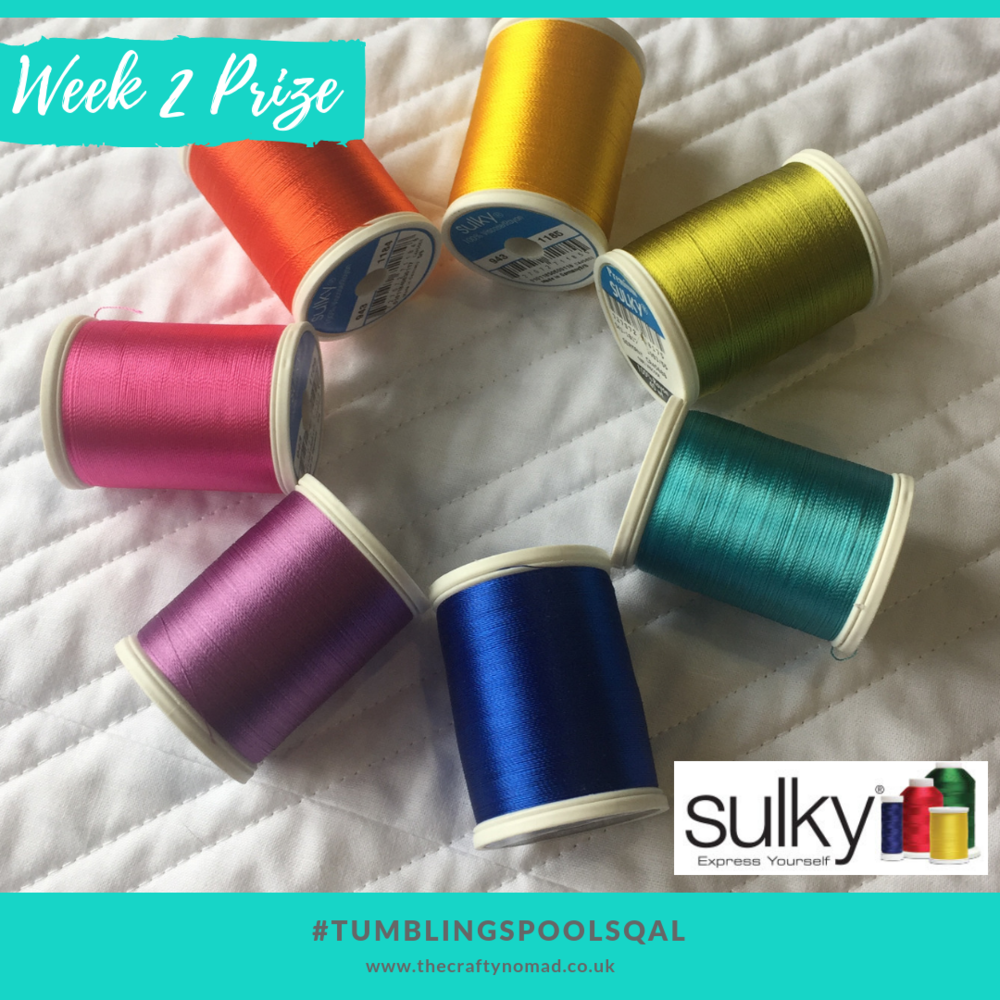 Tumbling Spools Quiltalong The Crafty Nomad Week 2 Prize Sulky of America