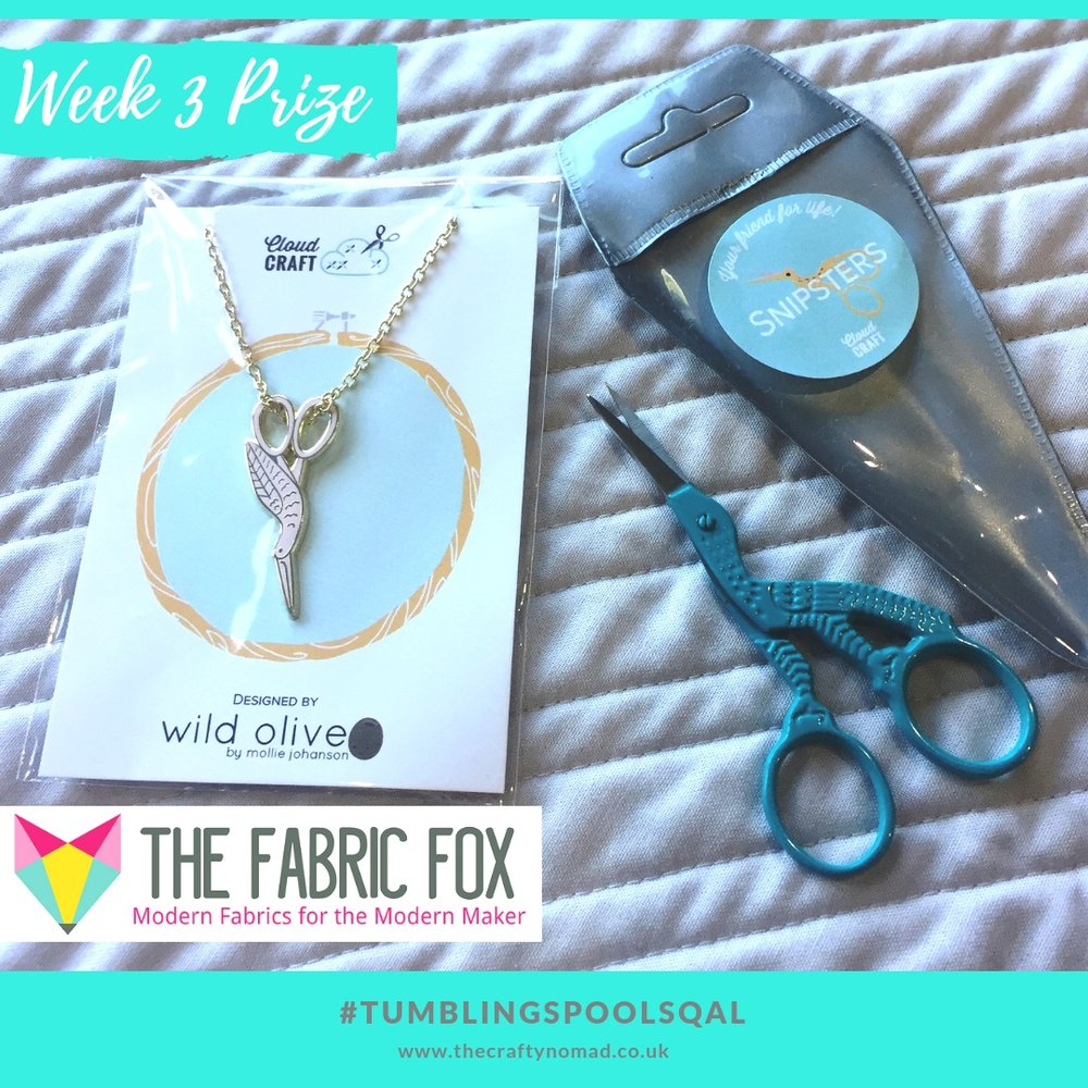 Tumbling Spools Quiltalong The Crafty Nomad Week 3 Prize The Fabric Fox