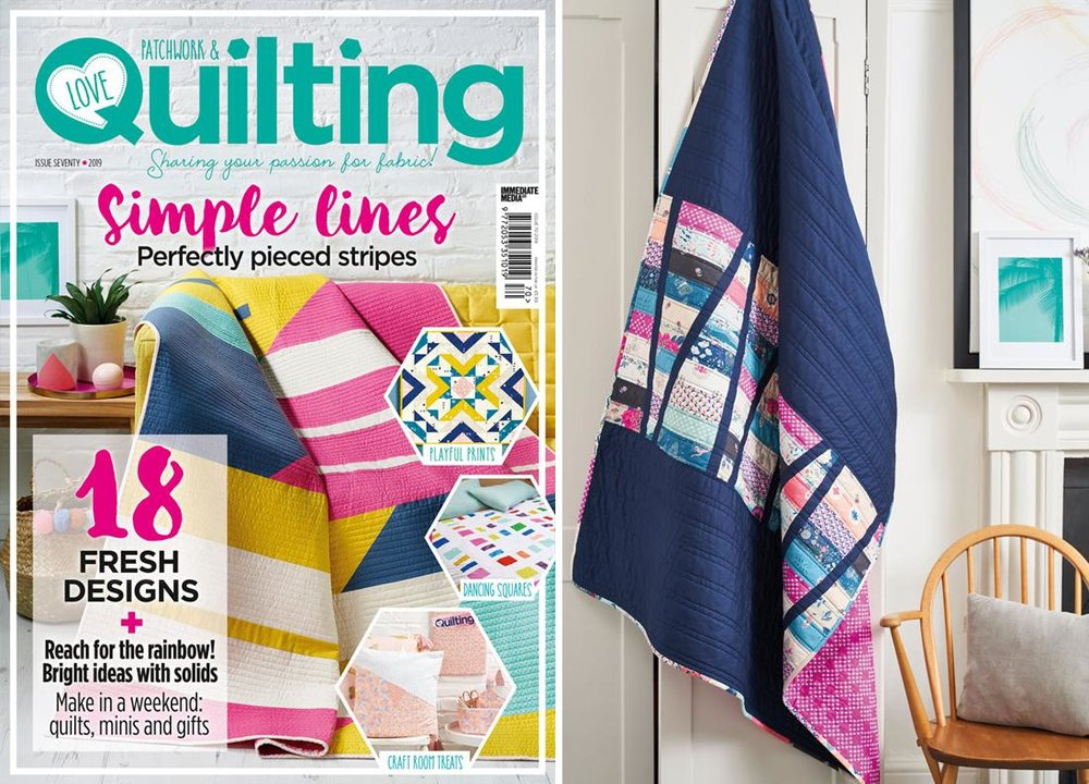 Rainbow Ribbons - Love Patchwork & Quilting Issue 70 - January 2019 - Photo credit to Love Patchwork & Quilting