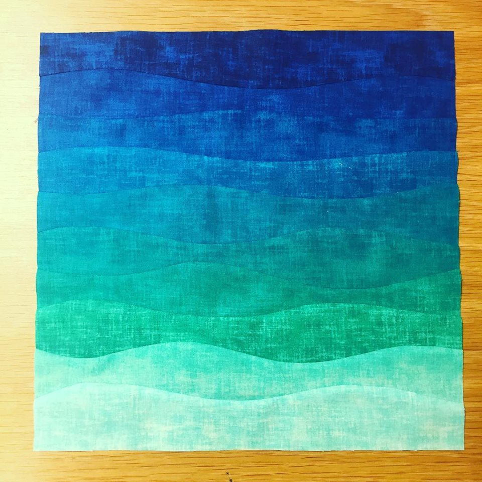 Ombre Improv Curves Block The Crafty Nomad