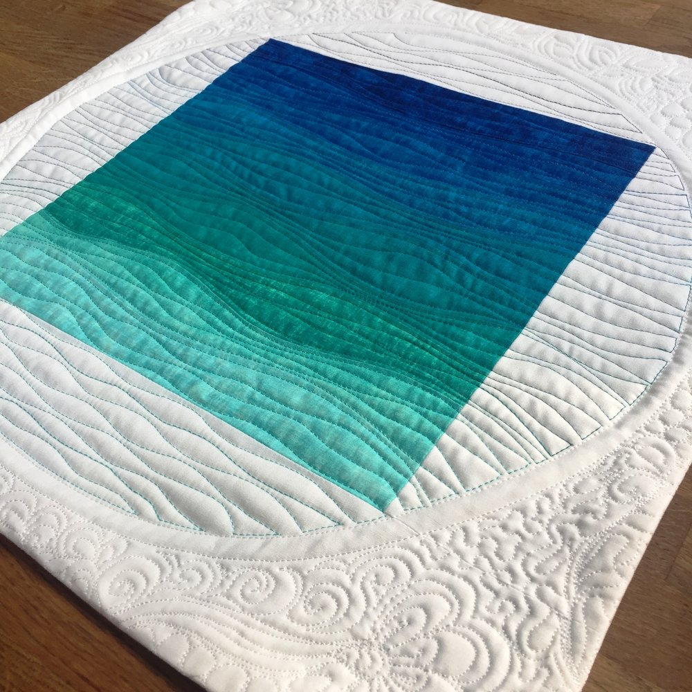 The Crafty Nomad Ombre Improv Curves Mini Quilt