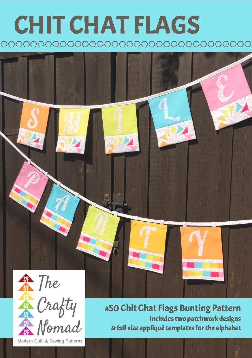 Chit Chat Flags Pattern Paper Pattern The Crafty Nomad Sewing Classes Quilt Patterns