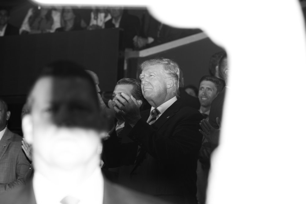 Donald J. Trump Applauds During His Son Eric J. Trump's Speech