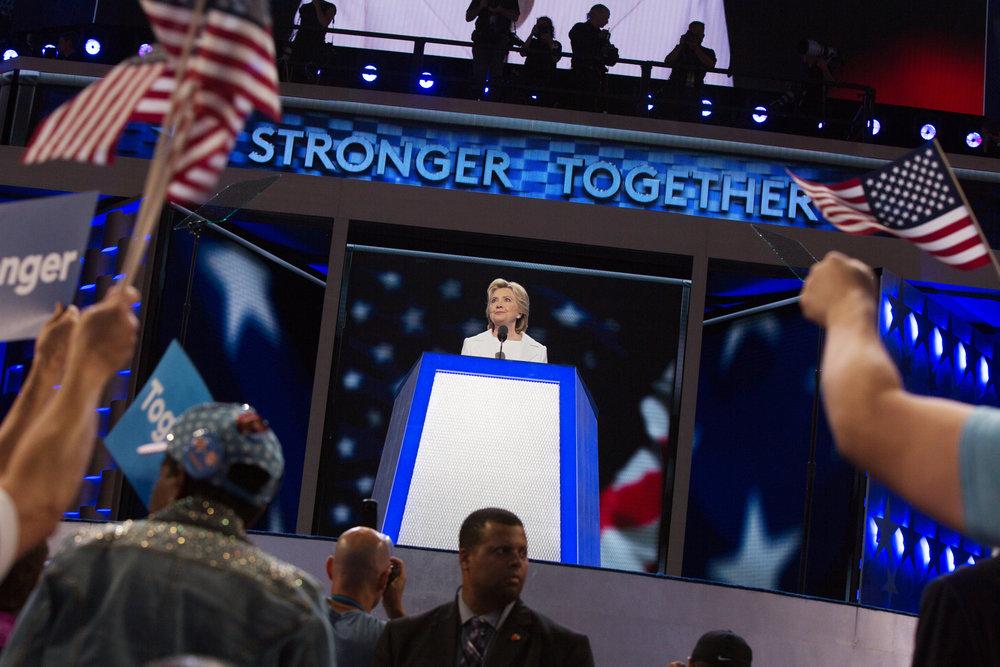 Hillary Clinton Addresses The DNC