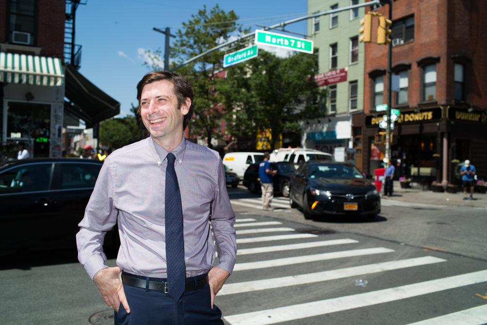 """Photographed for the """"Riders On The L"""" series. Councilman Stephen Levin represents District 33, which includes Williamsburg and Greenpoint."""