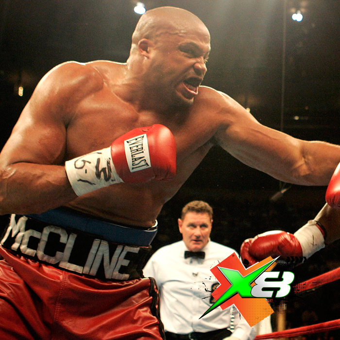 """Jameel """"Big Time"""" McCline Professional Heavyweight Boxer """"To get in peak shape, you're watching every carb and sugar that you put in your body. I use X8 Energy Gum because it is pure.no sugar, no unknown herbals, it works instantly and lasts. Plus, I can keep it in my pocket and take one whenever I need it."""""""