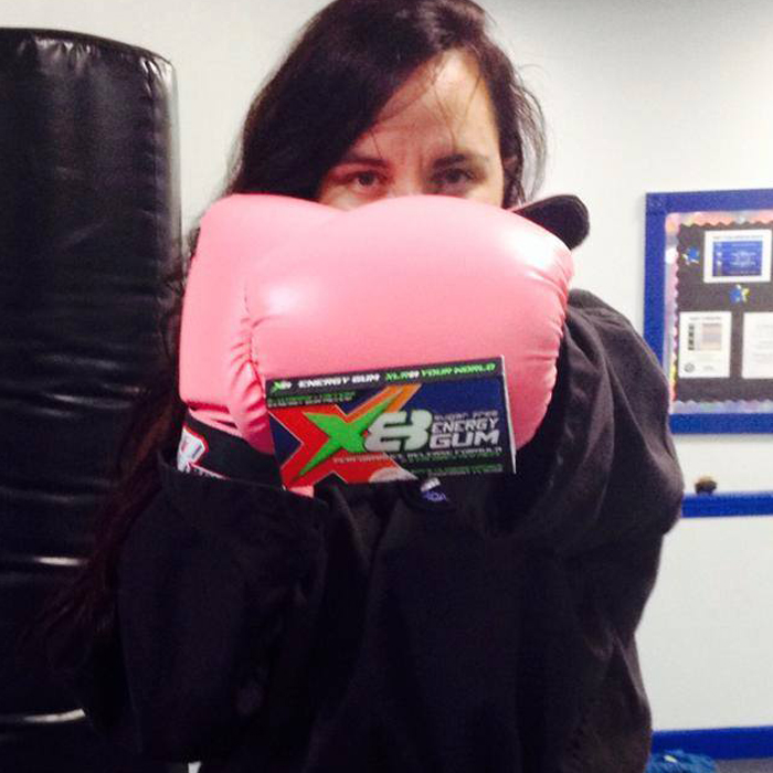 """Aimee H. Runner - Kick Boxer - Mom """"As a working, single mom to two very active little girls you can imagine I'm tired almost all the time. While working out at kick-boxing I was complaining about it to my friend when she gave me a pack of X8 Energy Gum. I wasn't sure I wanted to use it because I prefer natural and organic stuff but she said it was all natural, so I gave it a try. I can't stop chewing it. It has become part of my daily routine. I just love it!I'm happy that I've been able to cut back on those 3 lattes a day I would have to keep me awake!"""""""