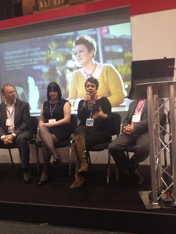 Meg speaking at the CIPD Annual Conference
