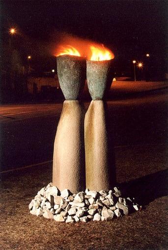 Nick Santoro -  Ancestral Torches - Sculptor, Nick Santoro.jpg
