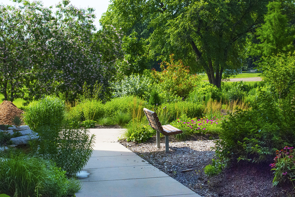 Bird Garden at Centennial Commons, partly funded by a grant from the Boeing Employees Community Fund