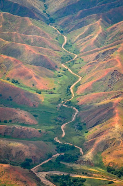 A fluvial valley carving through Madagascar's highlands. Photo: Alizé Carrère