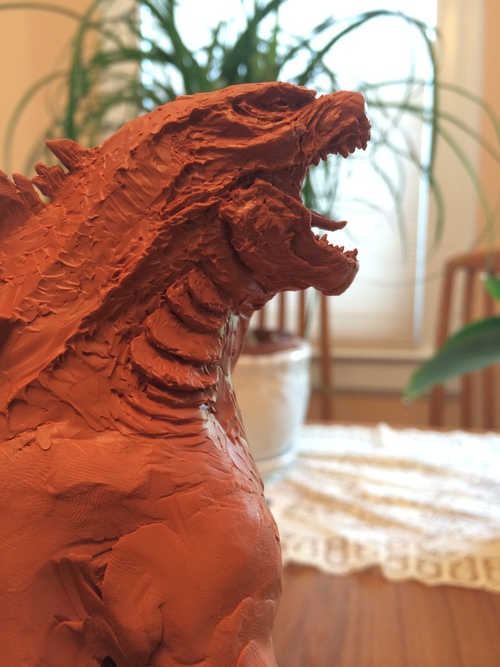 Godzilla 2014 Maquette Boaz R Cohen