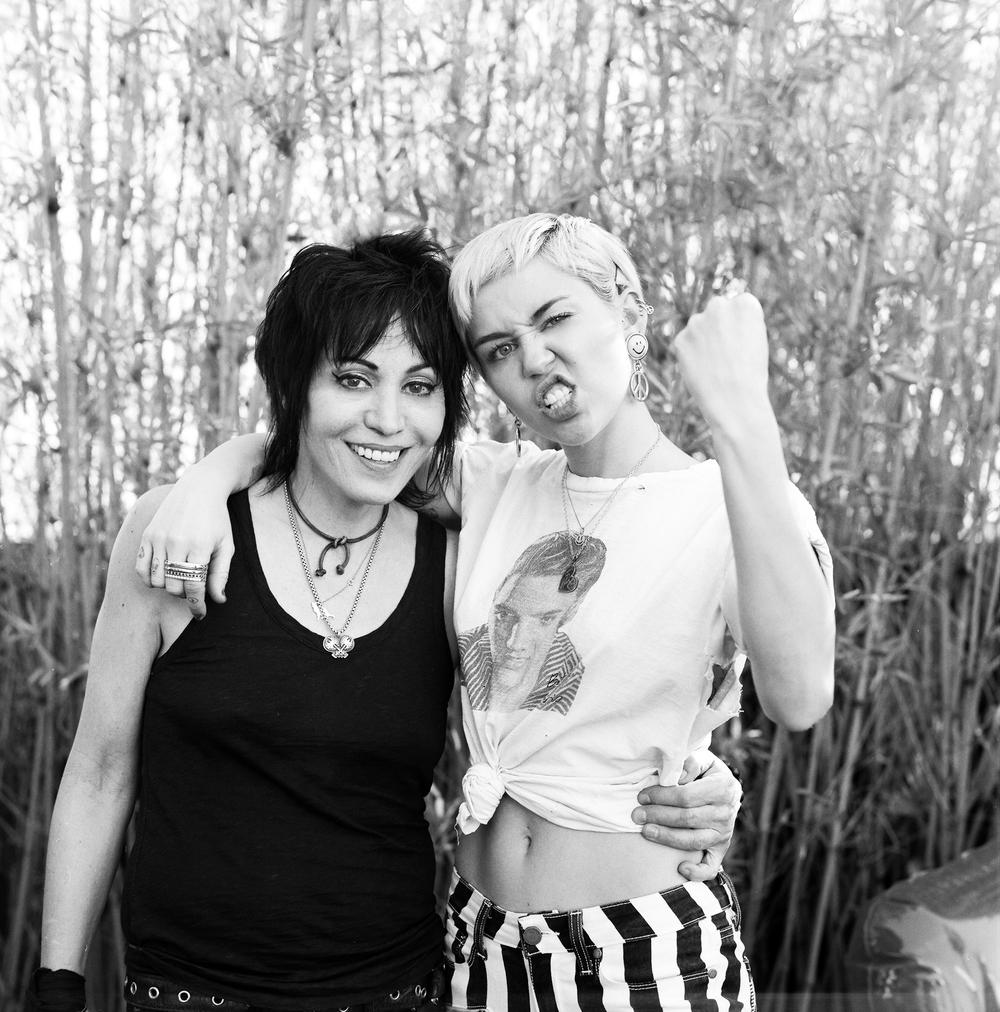 Joan Jett + Miley Cyrus