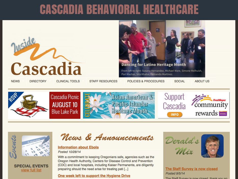 CASCADIA COMMUNICATIONS & INTRANET