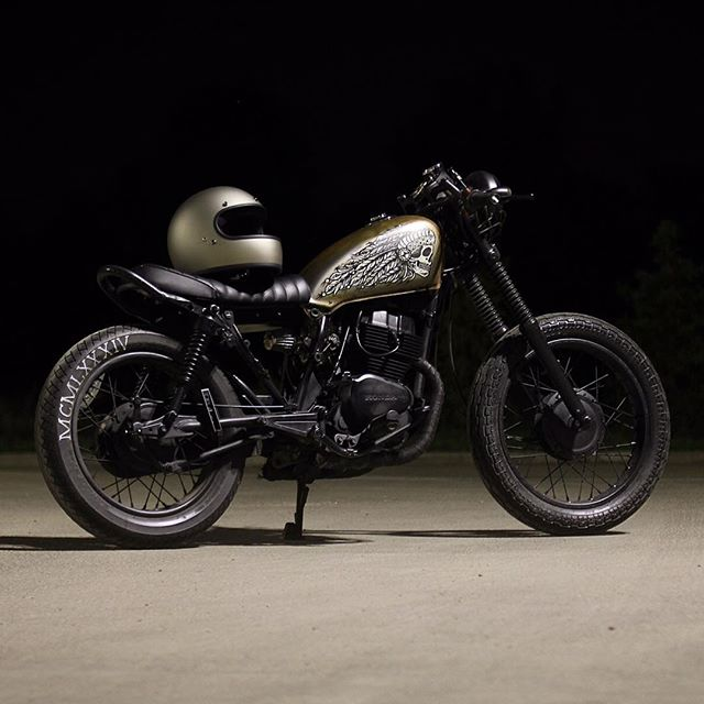 Today's CROIG submission comes from @leedenn who took this photo of his Honda CM250 the other night.  Love that tank art, thanks for sharing! . Submit your builds to contact.croig@gmail.com for a chance to be featured. . #croig #caferacersofinstagram