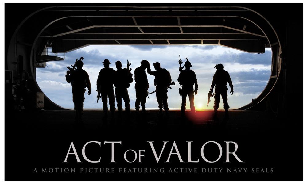 An unprecedented blend of real-life heroism and original filmmaking, Act of Valor stars a group of active-duty Navy SEALs in a powerful story of contemporary global anti-terrorism.       www.actofvalor.com