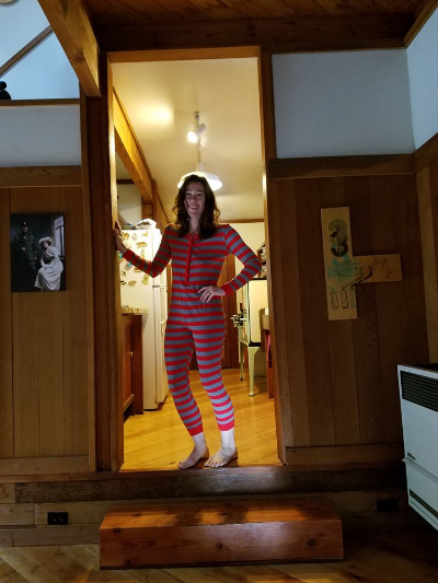 Sarah Kobrinsky writes in her pajamas