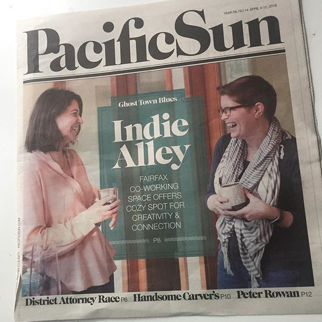 When you show up on the front page of your local newspaper! Thanks @pacificsunweekly for the great piece on @theindiealley!