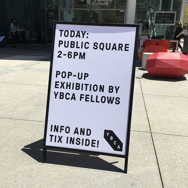 In case you need the reminder to come over. It's a beautiful day for an exhibition that might just change your life. #ybca #ybcafellow #publicsquare #culture #mentalwellbeing