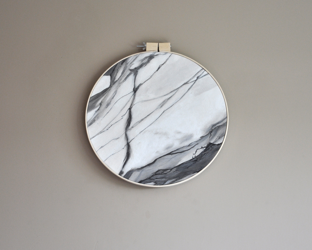 HOOP; XL  / Ashley Opperman / acrylic and ink on canvas / 18""