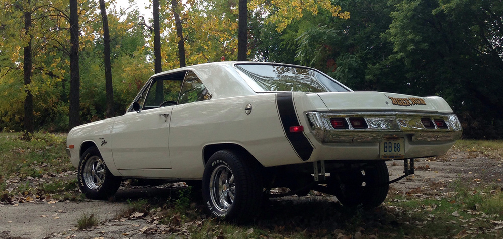 1972 Dodge Dart Swinger that serves as my warm-weather daily driver. Built as a period correct mid-70's Street Machine.