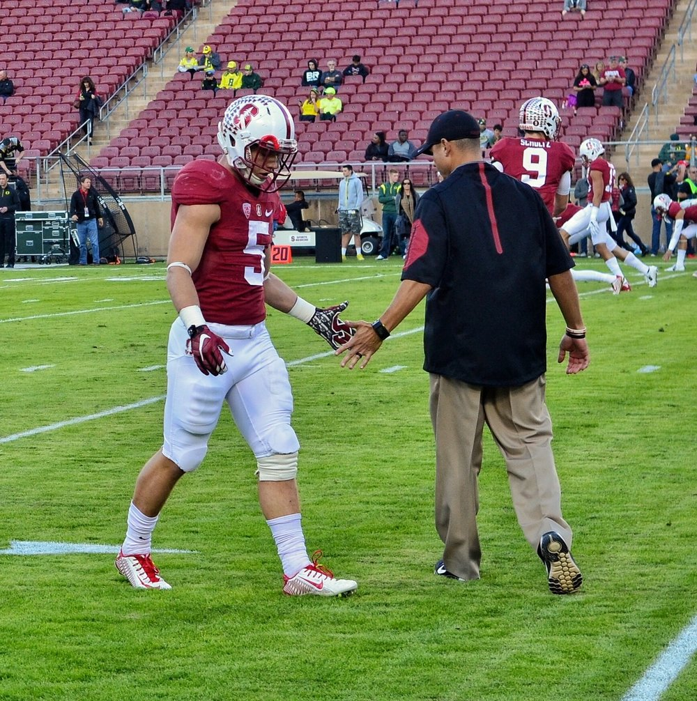 Christian McCaffrey was the runner up in the Heisman Trophy voting in 2015