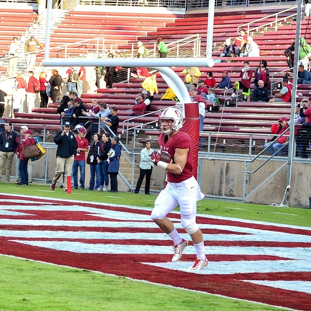 Christian McCaffrey is the son of former Stanford and former NFL player Ed McCaffrey