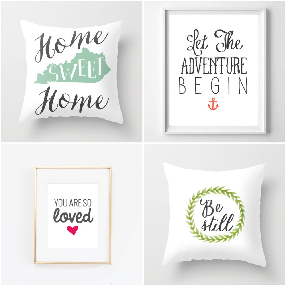fresh off the press pillow covers and prints from whattheprint on etsy
