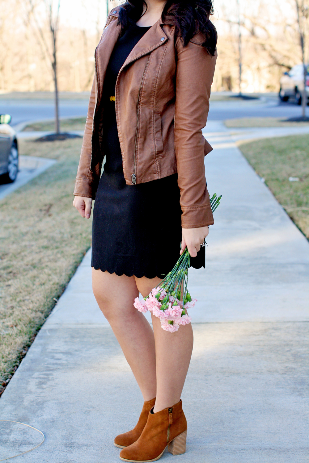 Valentine's Day Date Night Look LBD + Leather