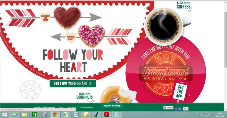Krispy Kreme Website Slideshow by Chelcey Tate