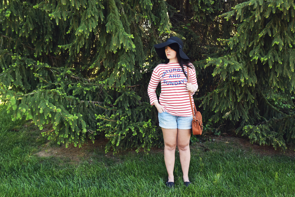 Striped Weekend T-shirt #Anthropologie on chelceytate.com