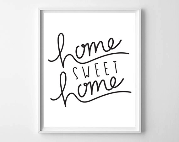 Fresh Off The Press! on chelceytate.com | Home Sweet Home hand lettered print