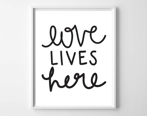 Fresh Off The Press! by chelceytate.com | Love Lives Here hand lettered print