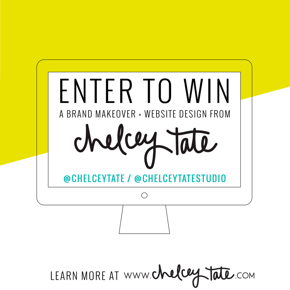 Enter To Win Brand/Website Design Giveaway Instagram Image www.chelceytate.com