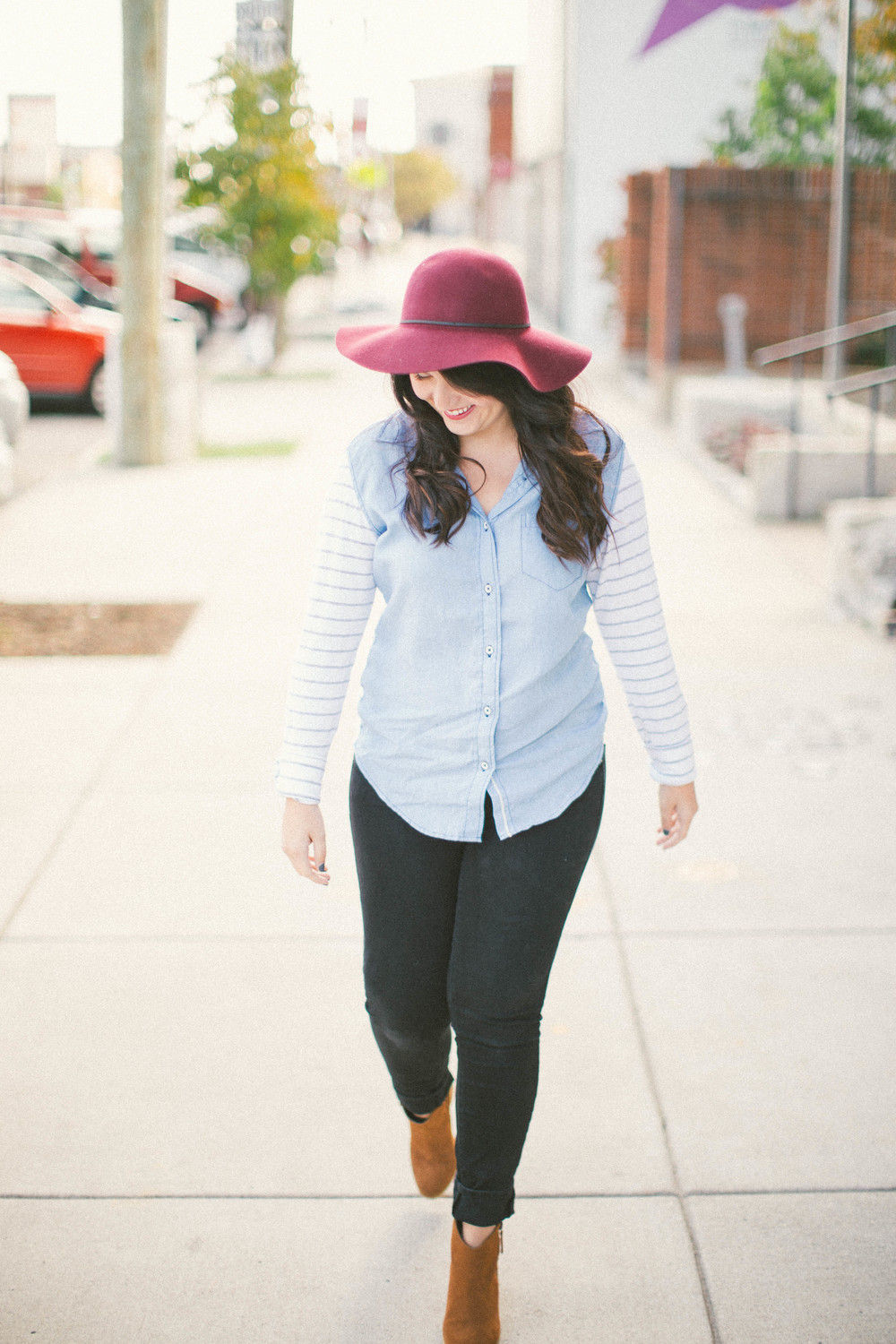 Chambray, Stripes + A Grateful Heart www.chelceytate.com